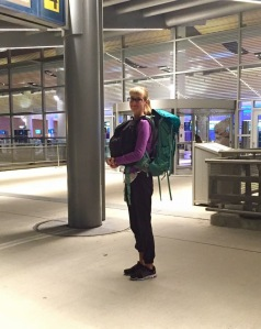 This was taken at the Winnipeg Airport when my mom dropped me off for my first solo backpacking adventure to Mexico!