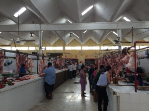 The meat section of the local market
