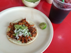 Delicious tacos al pastor for dinner at Taqueria Mr. Taco in Valladolid