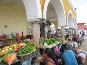 The central market in Valladolid, where all of the locals come to shop