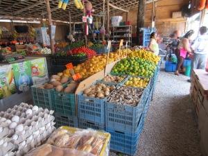 Produce market on Calle Sol in Tulum