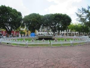 The fountain at the centre of Valladolid's public square